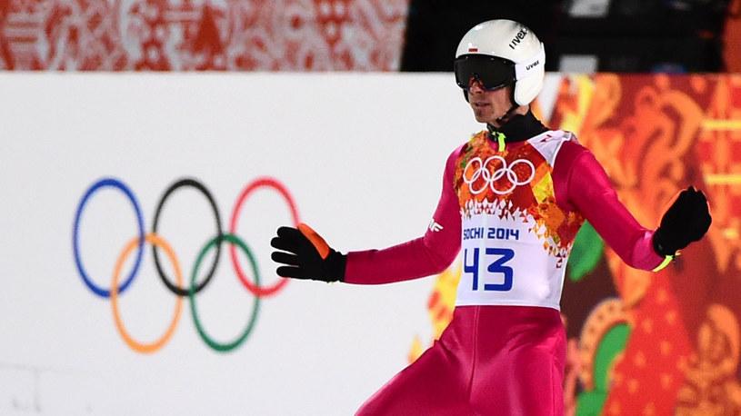 Piotr Żyła podczas igrzysk w Soczi /AFP