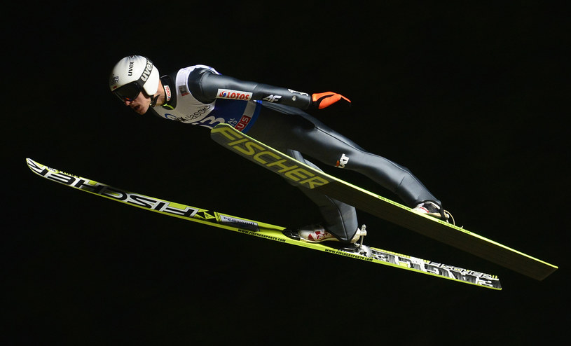 Piotr Żyła w niemieckim Klingenthal /AFP