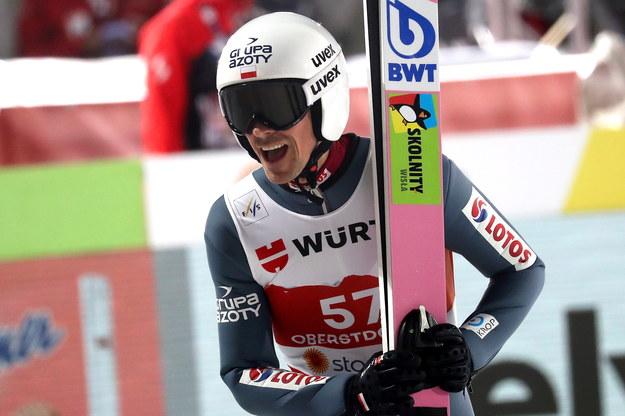 Piotr Żyła w serii kwalifikacyjnej do konkursu skoków na skoczni HS 137 podczas mistrzostw świata w narciarstwie klasycznym /Grzegorz Momot /PAP