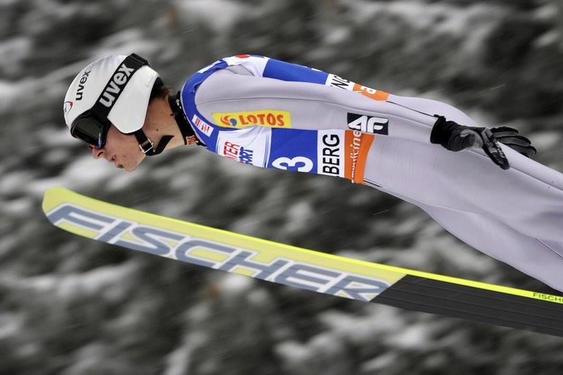 Piotr Żyła w szwajcarskim Engelbergu /AFP