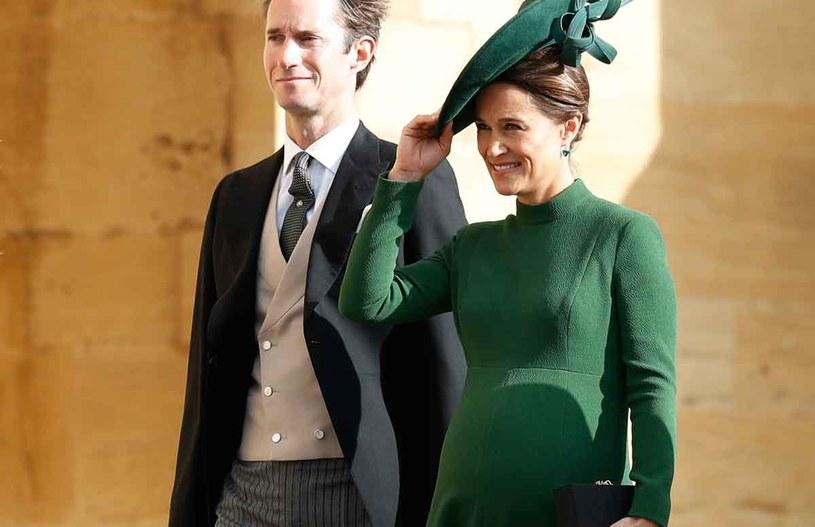 Pippa Middleton i James Matthews na ślubie księżniczki Eugenii /Getty Images