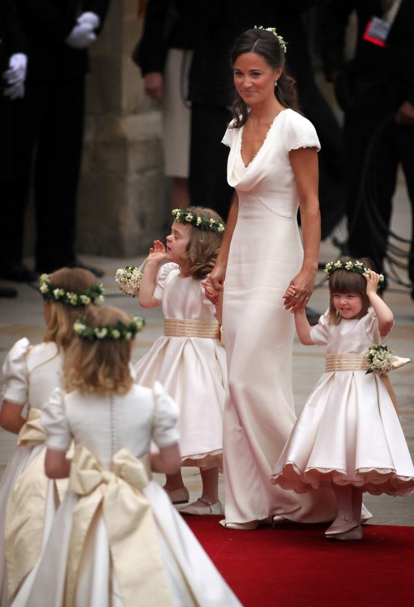 Pippa Middleton na ślubie swojej siostry /WPA Pool /Getty Images
