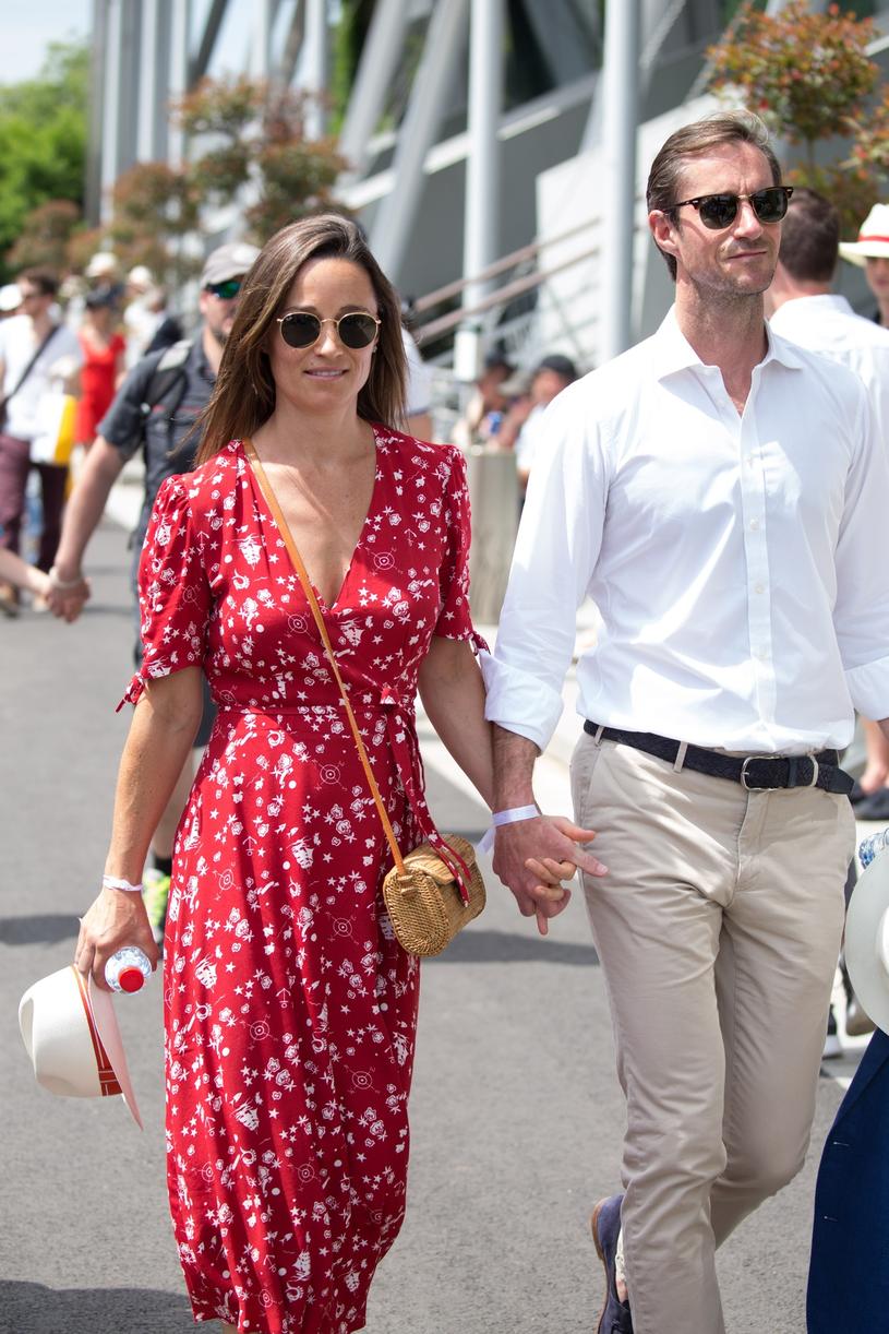 Pippa Middleton z mężem /East News