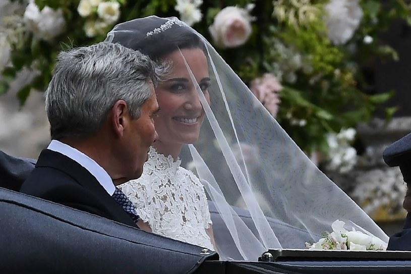 Pippa Middleton z ojcem /AFP