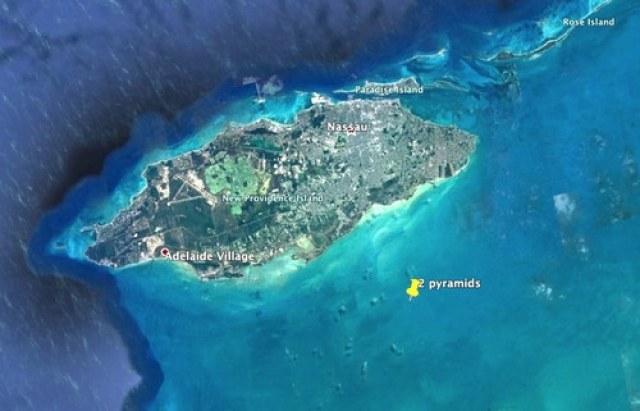 Piramidy mają leżeć 6,6 km na południe od wyspy New Providence na Bahamach /materiały prasowe