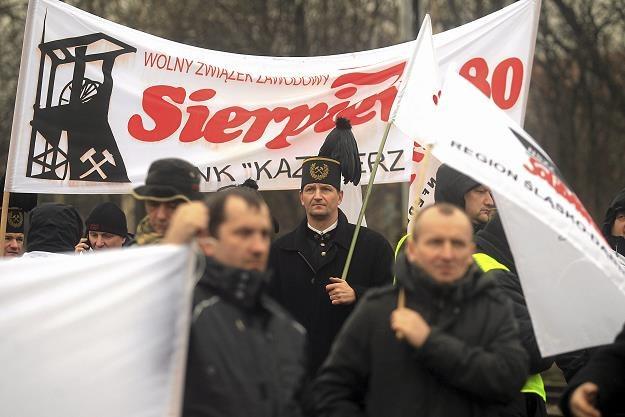 PiS nie realizuje tego, co obiecało górnikom. Fot. Dawid Chalimoniuk Agencja Gazeta /