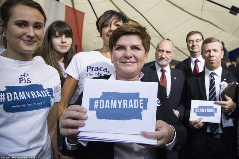PiS promuje swoje hasło jako Twitterowy hashtag #DamyRade /Maciej Łuczniewski /Reporter