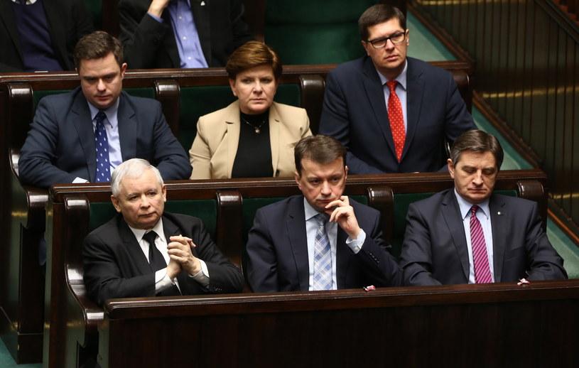 PiS w ławach sejmowych /Tomasz Gzell /PAP