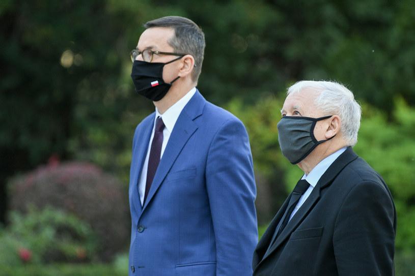 PiS zmieni projekt Polskiego Ładu? Na zdj. Mateusz Morawiecki i Jarosław Kaczyński /Jacek Domiński /Reporter