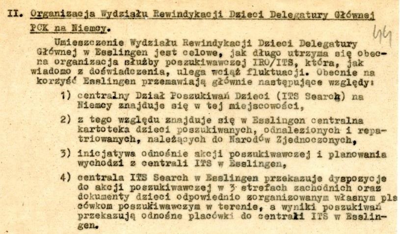 Pismo delegata PCK K. Rudzińskiego z 31.12.1948 r. Dokument znajduje się w Archiwum Akt Nowych /INTERIA.PL