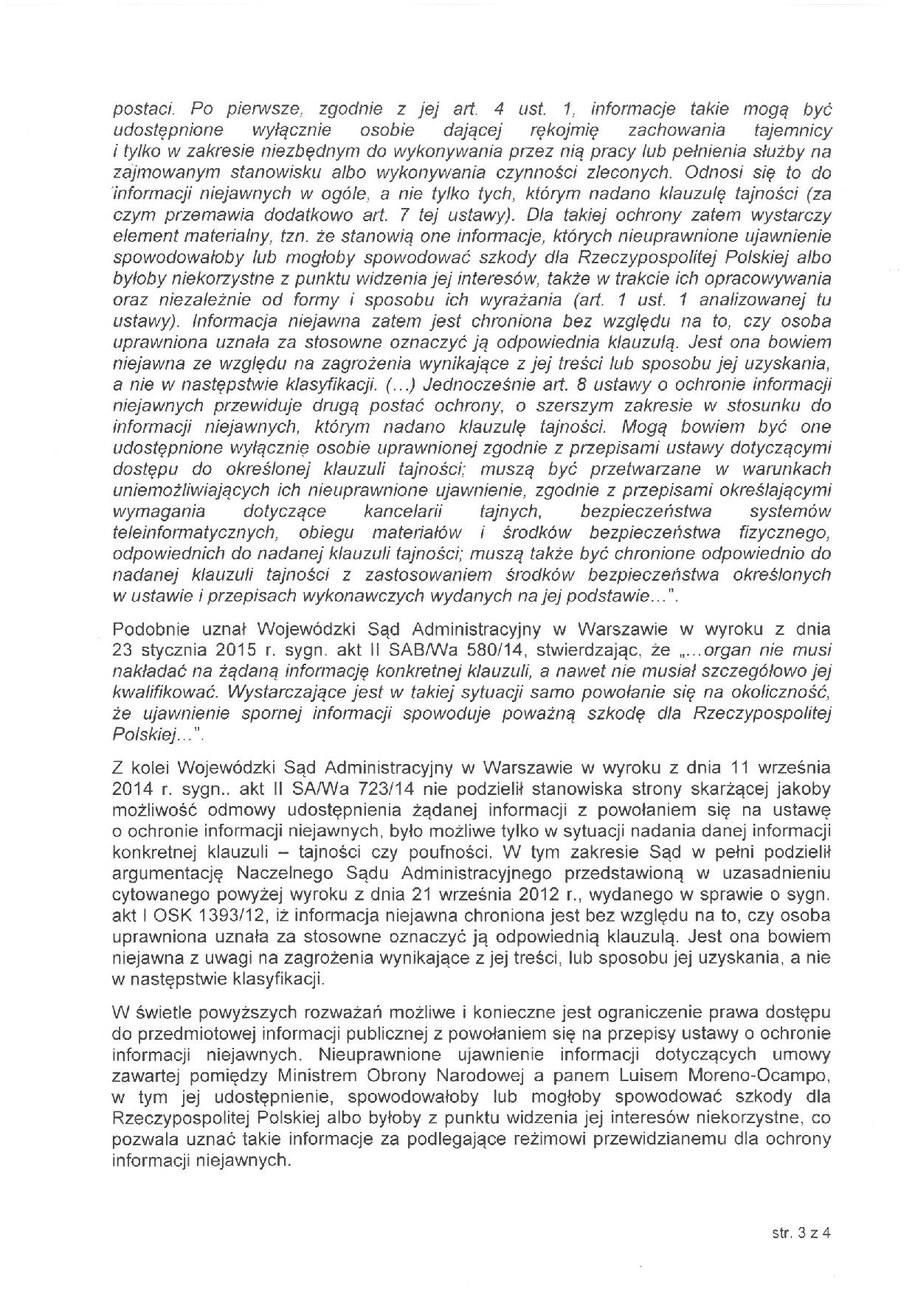 Pismo od Antoniego Macierewicza /RMF FM /Zrzut ekranu