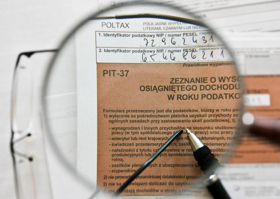 PIT [zdj. ilustracyjne] /PAP/Lech Muszyński /PAP