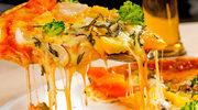 Pizza serowa z brokułami