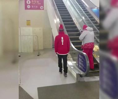 Pjongczang 2018. Fabian Boesch trenuje na ruchowych schodach. Wideo