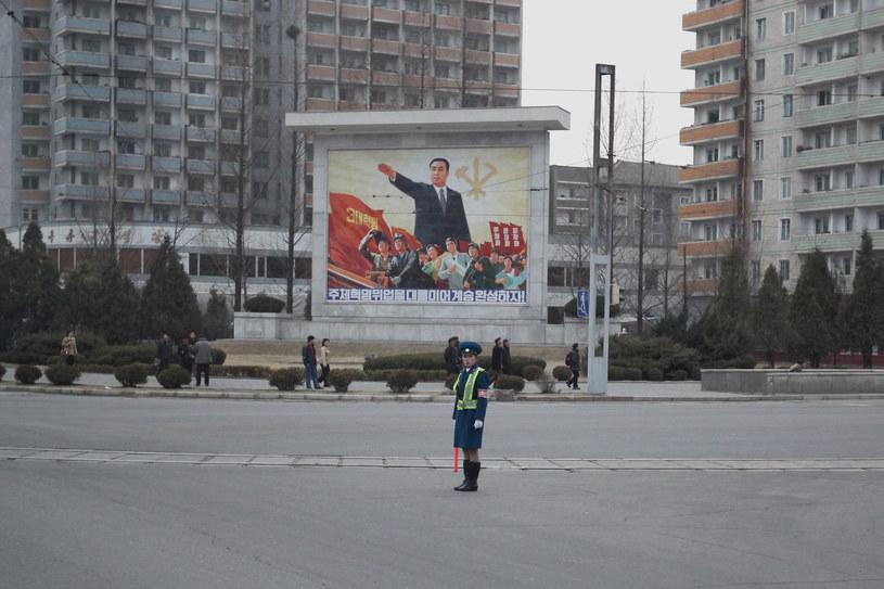 Pjongjang. Ruch na ulicach stolicy nie jest zbyt duży... /Getty Images/Flash Press Media