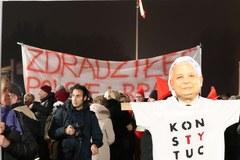 Plac Piłsudskiego przed odsłonięciem pomnika Lecha Kaczyńskiego