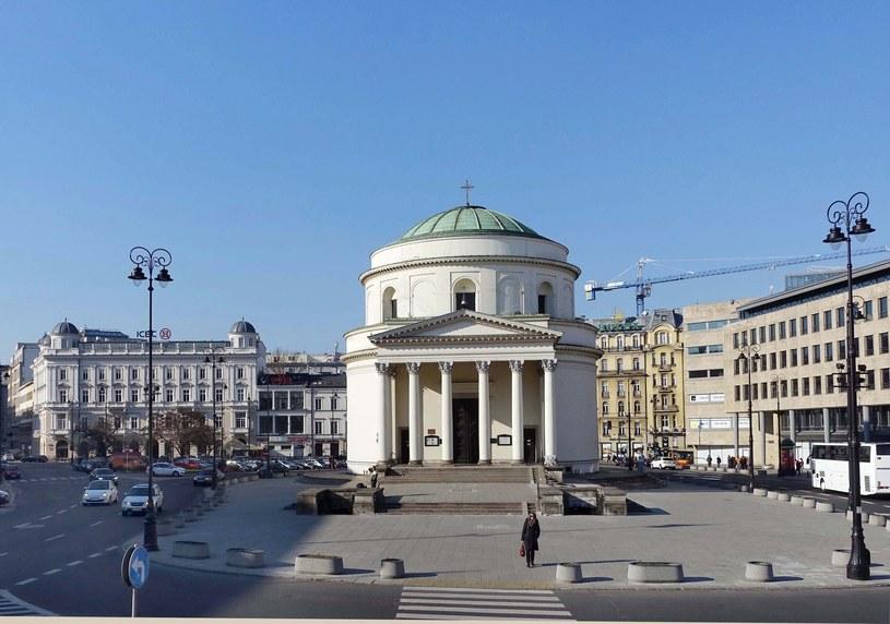 Plac Trzch Krzyży, po lewej w głębi kamienica pod Gryfami /Wojtek Laski /East News