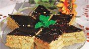 Placek królewski z czekoladową polewą