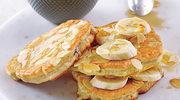 Placuszki z kaszy manny z bananem