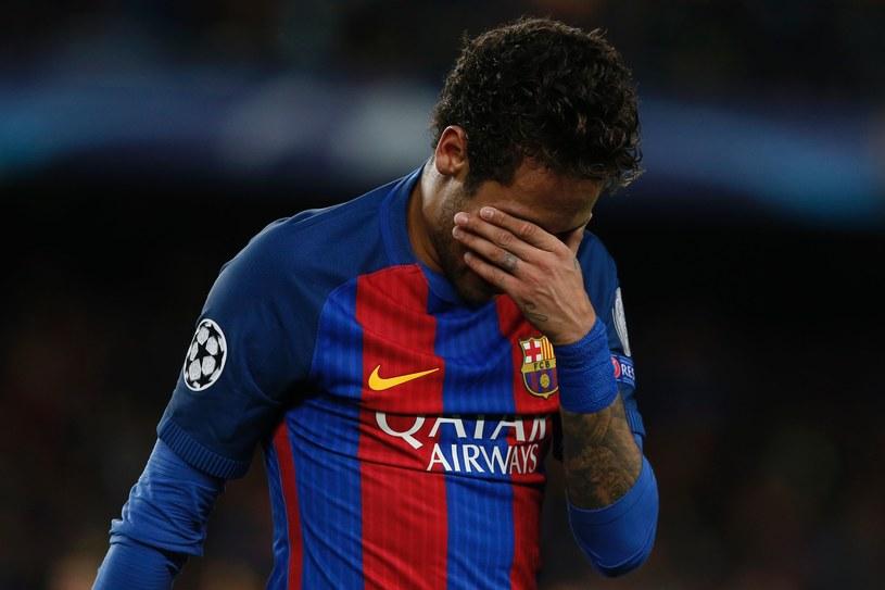 Płaczący Neymar /AFP