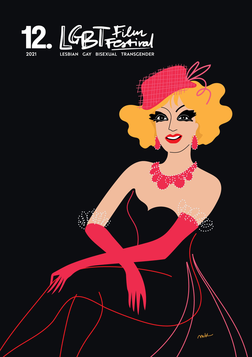 Plakat 12. edycji LGBT Film Festival /materiały prasowe