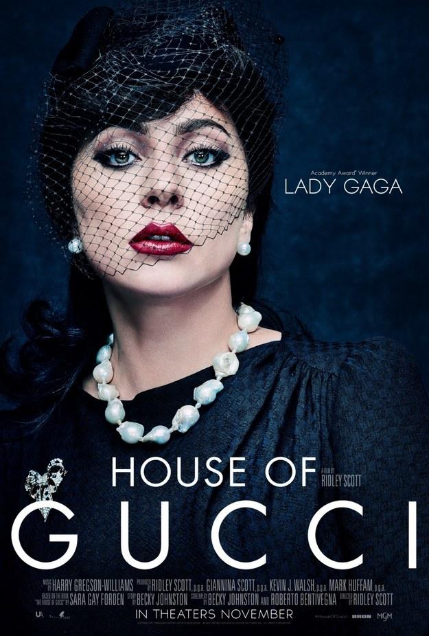 """Plakat do filmu """"Dom Gucci"""" /materiały prasowe /"""