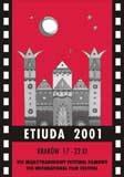 "Plakat festiwalu ""Etiuda 2001"" /"