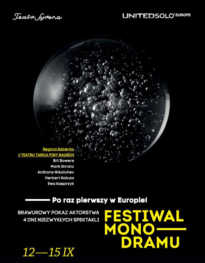 Plakat Festiwalu Monodramu /Styl.pl/materiały prasowe