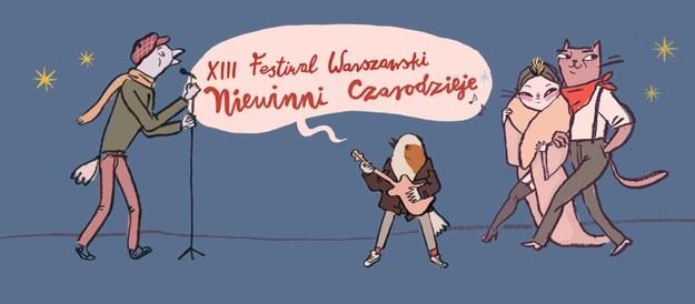 """Plakat festiwalu """"Niewinni czarodzieje"""" /Materiały prasowe"""