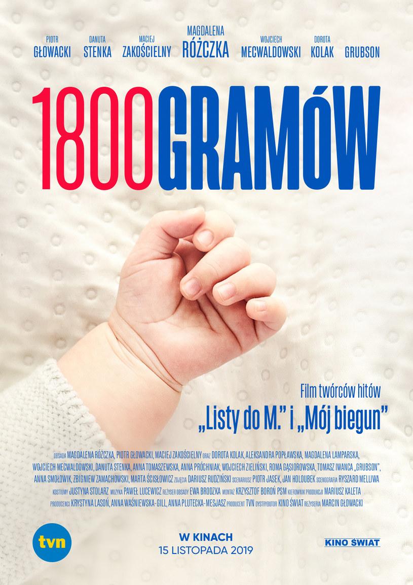 """Plakat filmu """"1800 gramów"""" /materiały dystrybutora"""