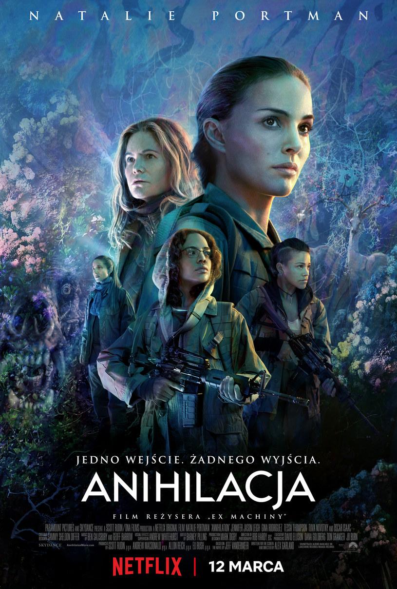 """Plakat filmu """"Anihilacja"""", fot. Netflix /materiały prasowe"""
