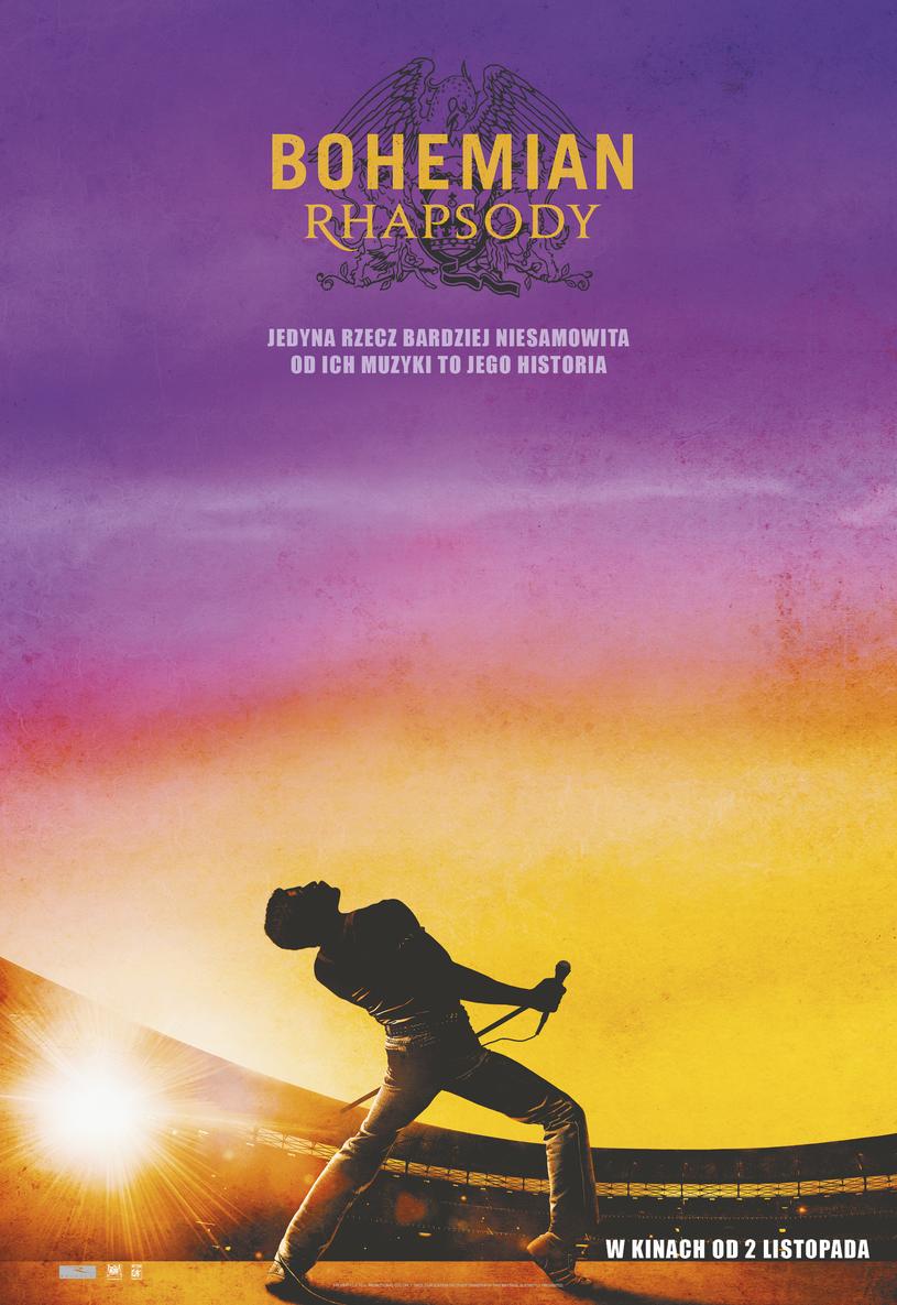 """Plakat filmu """"Bohemian Rhapsody"""" /materiały dystrybutora"""