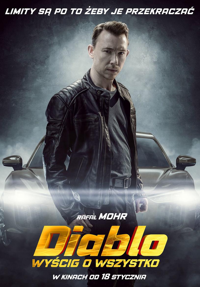 """Plakat filmu """"Diablo. Wyścig o wszystko"""" /materiały prasowe"""