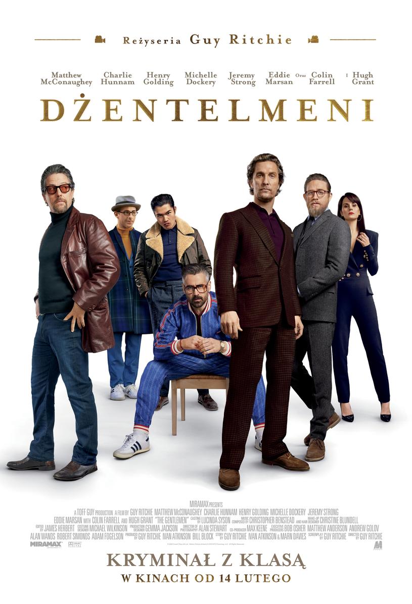 """Plakat filmu """"Dżentelmeni"""" /materiały prasowe"""