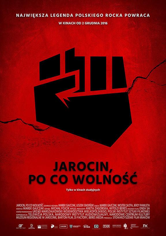 """Plakat filmu """"Jarocin, po co wolność"""" /Barton Film /materiały dystrybutora"""