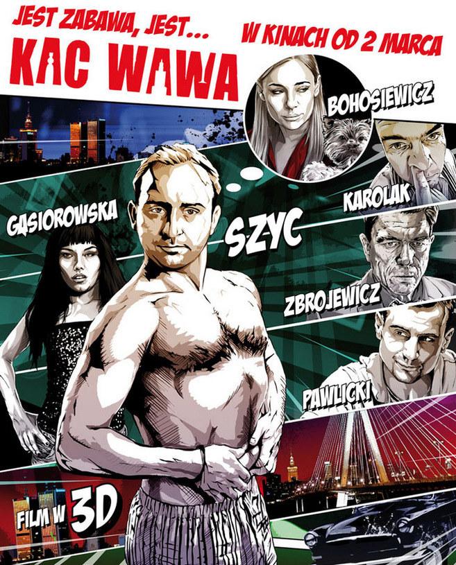 """Plakat filmu """"Kac Wawa"""" /Syrena Films /materiały prasowe"""