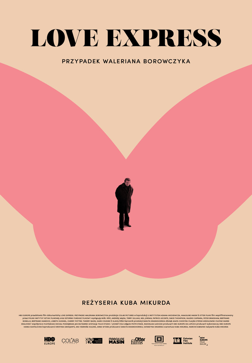 """Plakat filmu """"Love Express. Przypadek Waleriana Borowczyka"""" /HBO"""