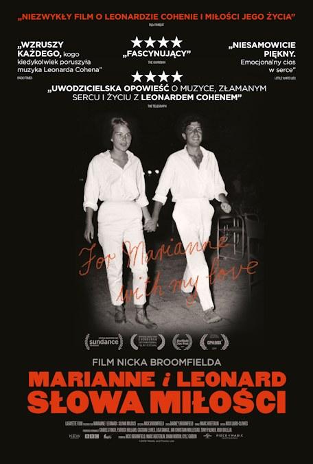 """Plakat filmu """"Marianne i Leonard. Słwa miłości"""" /materiały dystrybutora"""