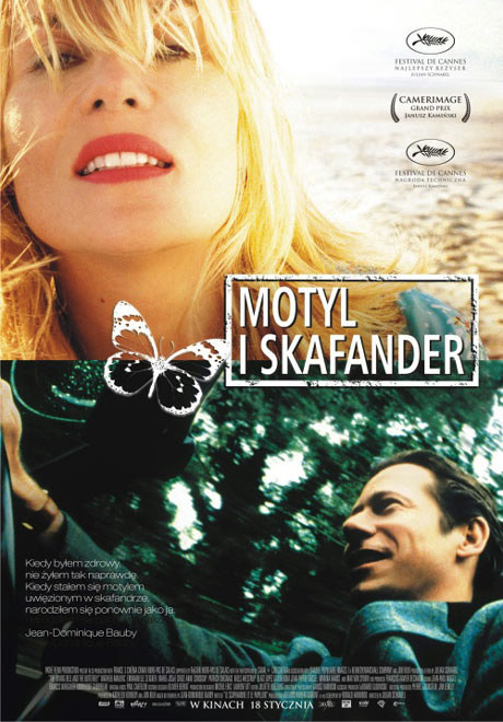 """Plakat filmu """"Motyl i skafander"""" /"""