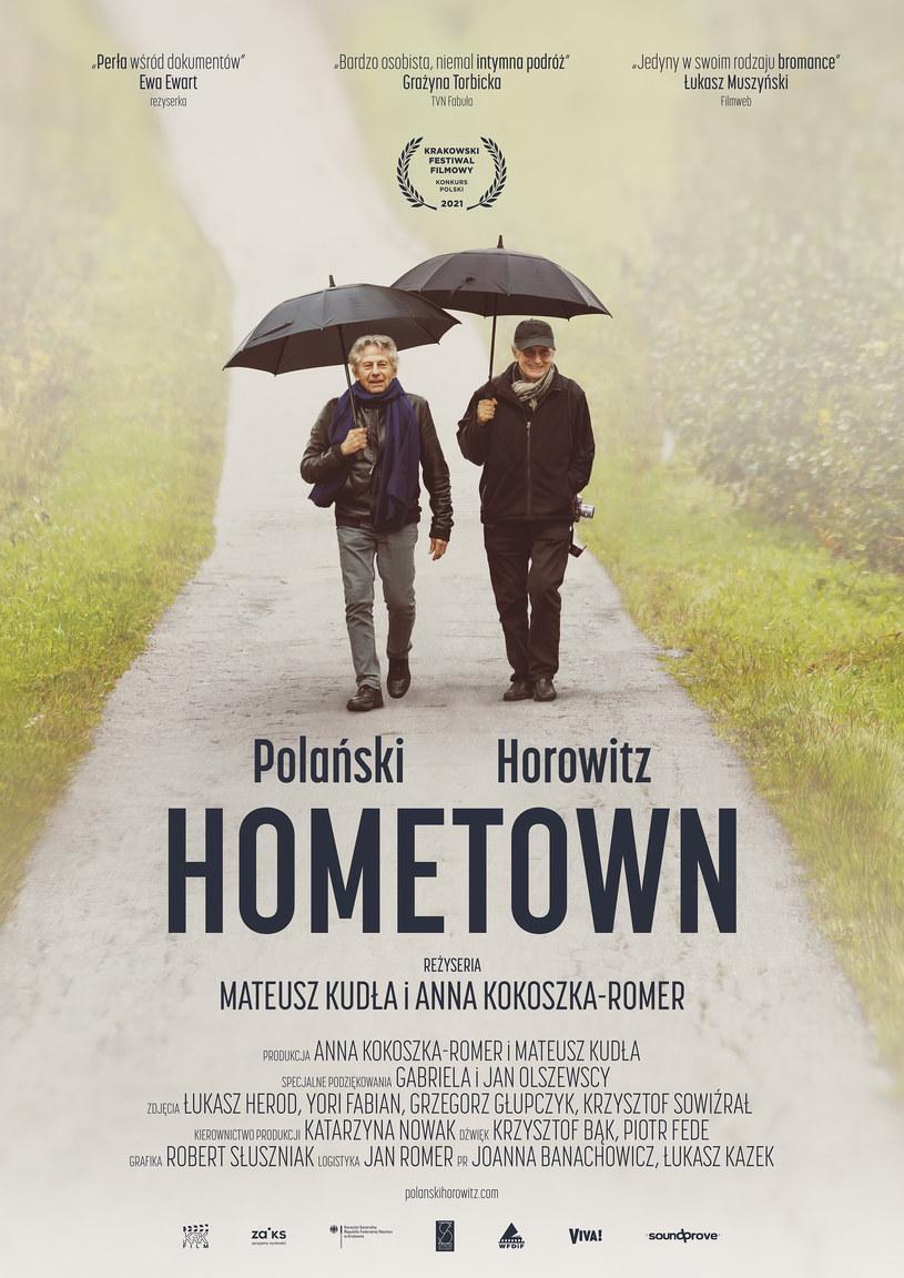 """Plakat filmu """"Polański, Horowitz. Hometown"""" /materiały prasowe"""