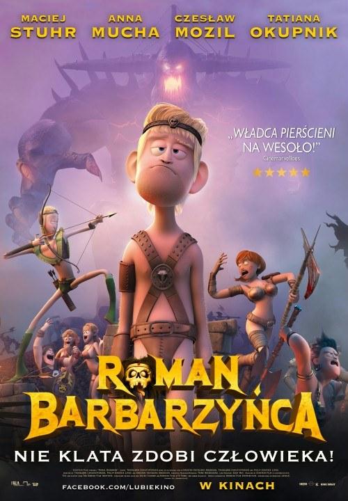 """Plakat filmu """"Roman barbarzyńca"""" /materiały prasowe"""