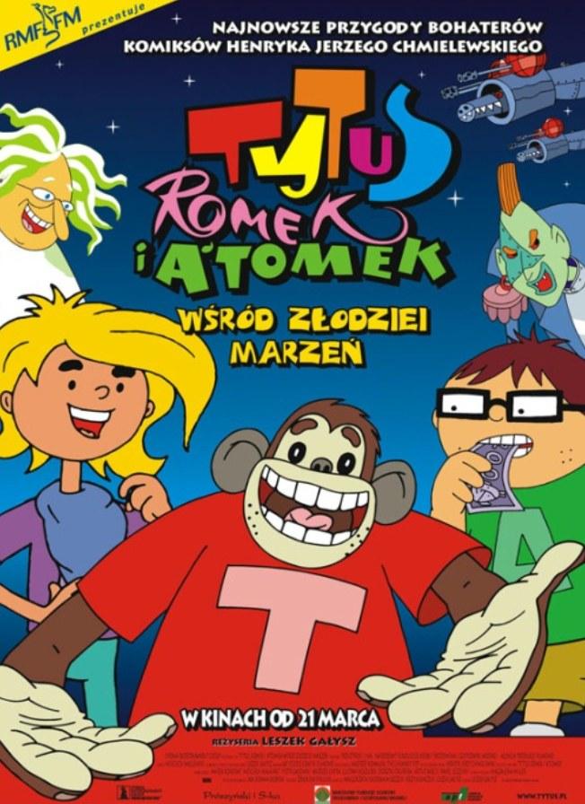 """Plakat filmu """"Tytus, Romek i A'Tomek wśród złodziei marzeń"""" (2002) /materiały prasowe"""