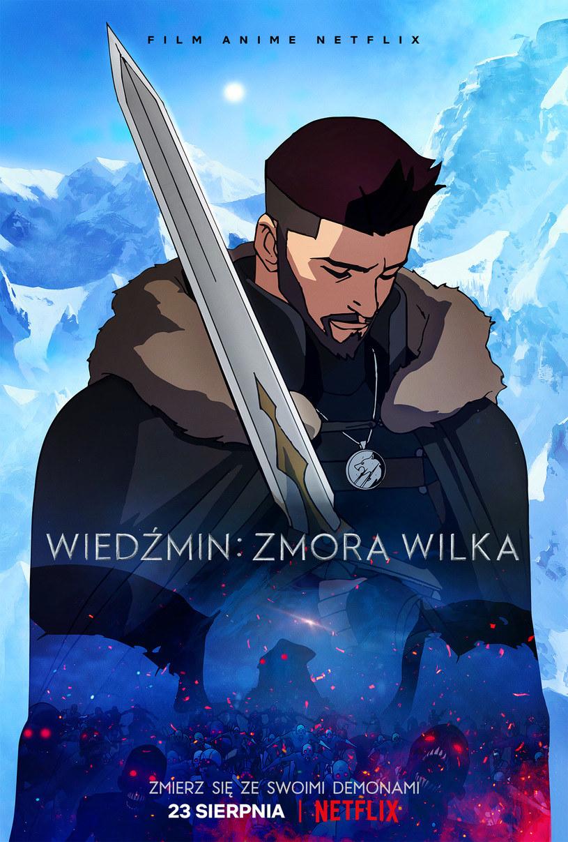 """Plakat filmu """"Wiedźmin: Zmora Wilka"""" /materiały prasowe"""