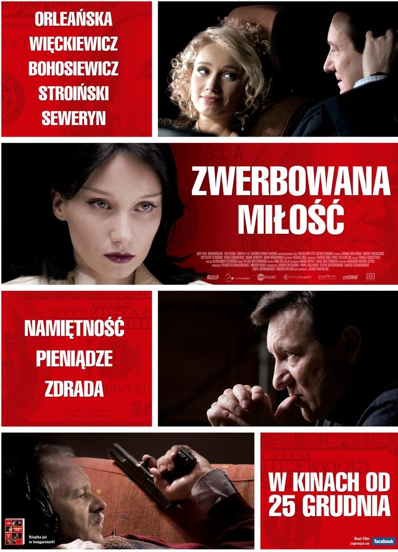 """Plakat filmu """"Zwerbowana miłość"""" /Best Film /materiały prasowe"""