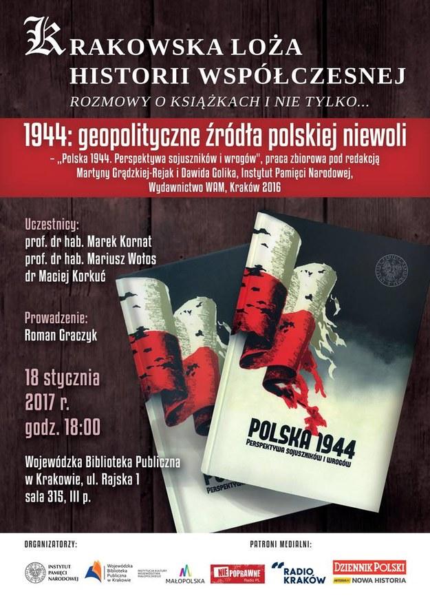 Plakat informujący o spotkaniu /materiały prasowe