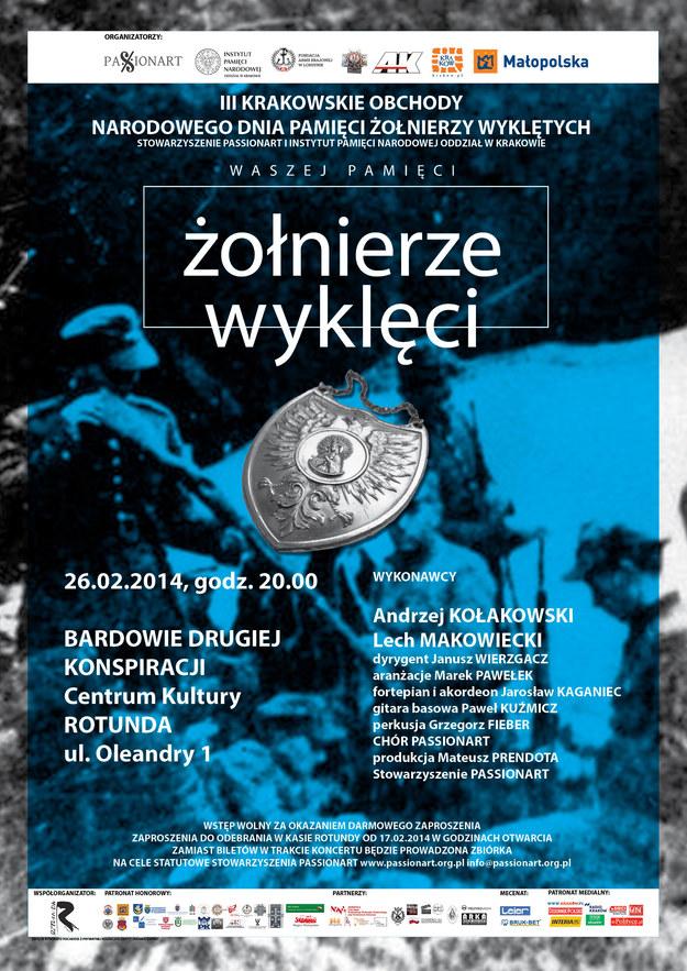 """Plakat koncertu """"Bardowie drugiej konspiracji"""" /IPN"""