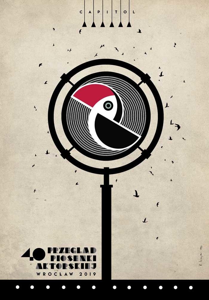 Plakat na tegoroczny Przegląd Piosenki Aktorskiej, który stworzył Ryszard Kaja /PPA WROCŁAW /Materiały prasowe