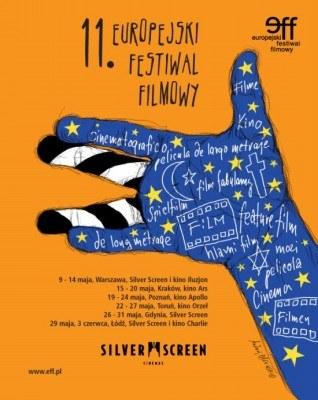 Plakat promujący 11 Europejski Festiwal Filmowy /