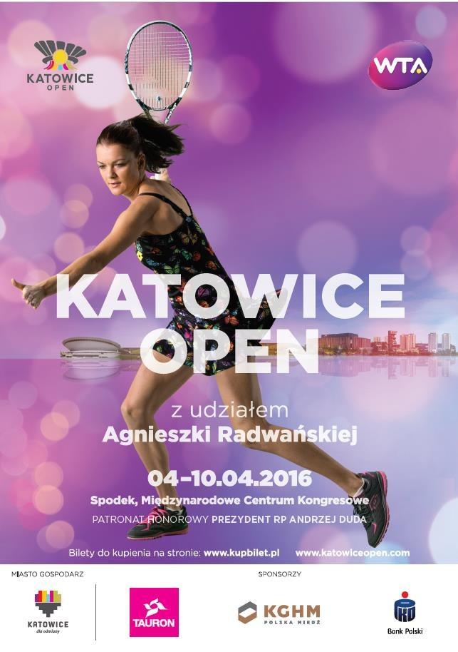 Plakat promujący czwartą edycję turnieju WTA Katowice Open /Informacja prasowa