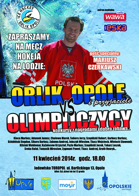 Plakat promujący hokejowe wydarzenie w Opolu /Informacja prasowa